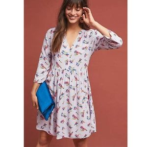 Anthropologie Maeve Juno Floral Printed Dress M